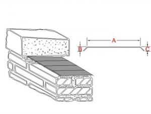 3-Way Bonding Coping Metal Flashing A profile