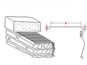 3-Way Bonding Coping Metal Flashing B profile