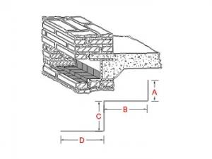 3-Way Bonding Lintel Metal Flashing A profile