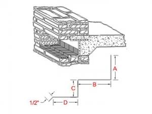 3-Way Bonding Lintel Metal Flashing B profile