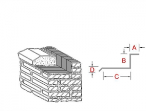 3-Way Bonding Sill Metal Flashing B profile