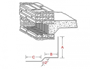 3-Way Bonding Spandrel Metal Flashing A profile
