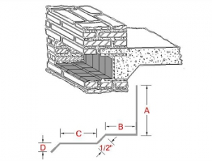 3-Way Bonding Spandrel Metal Flashing B profile