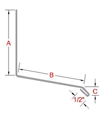 Apron Angle Flashing profile