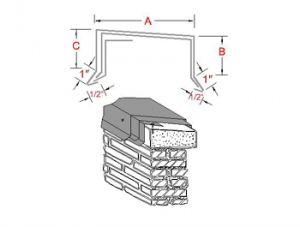 Continuous Cleat Metal Coping System profile