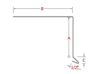 Metal Drip Edge System profile