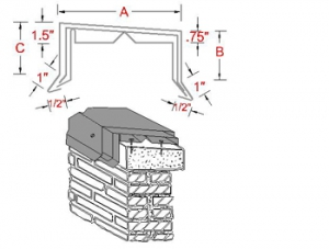 Spring Lock Metal Coping System profile