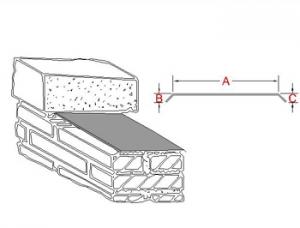Through-Wall Coping Metal Flashing A (profile)