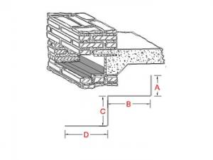 Through-Wall Lintel Metal Flashing A profile