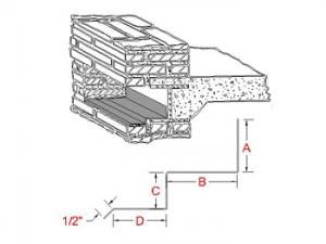Through-Wall Lintel Metal Flashing B profile