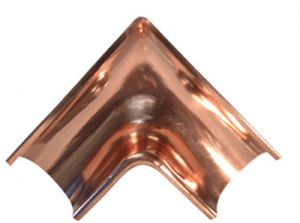 Americraft Copper Gutter Miter Inside Corner