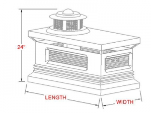 Colonial Chimney Cap profile