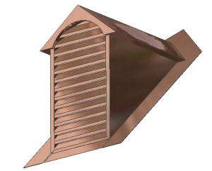 Dog House Full Louver Dormer