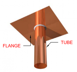 Drop Flange Metal Tube