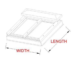 Flat Vented Skylight profile