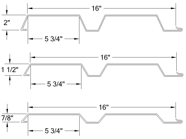 HORIZONTAL CENTER RIB PANEL profile