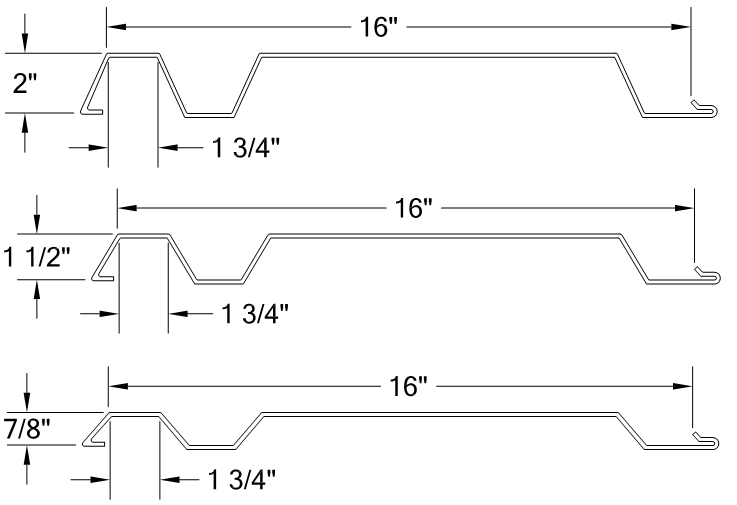 HORIZONTAL DOUBLE RIB PANEL 16- profile