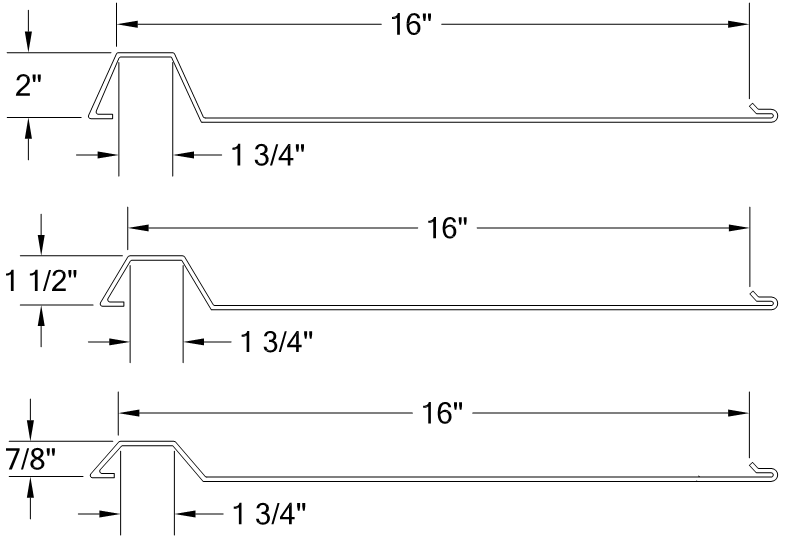 HORIZONTAL SINGLE RIB PANEL 16-PANELS profile