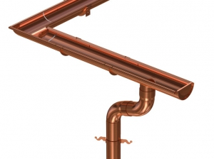 Half Round Copper Gutter System & Accessories