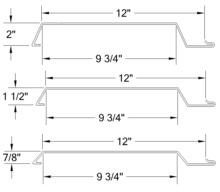 PANELHORIZONTAL SMOOTH RIB PANEL 12- PANELS profile