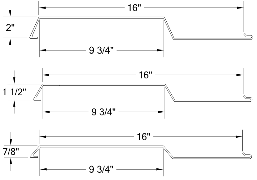 PANELHORIZONTAL SMOOTH RIB PANEL 16- PANELS profile