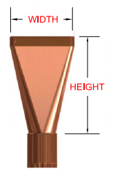 Plain leader head or conductor head 3