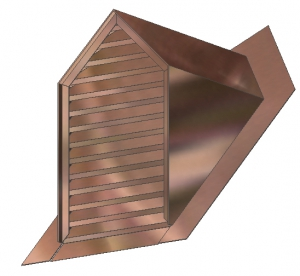 Triangular Top Full Louver Dormer