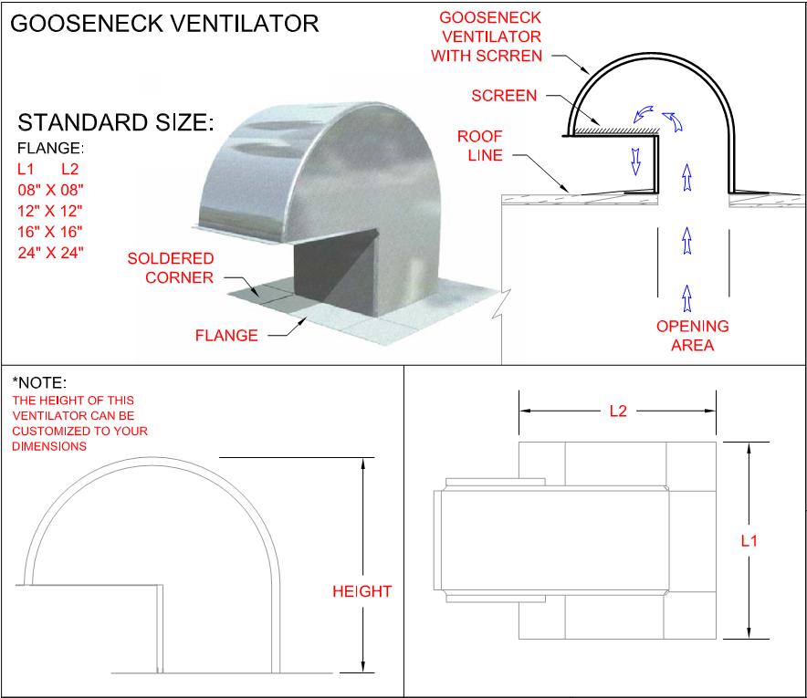 gooseneck ventilator